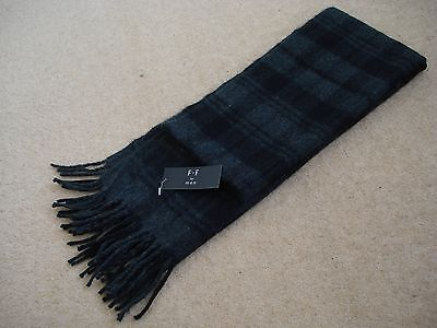Men's Scarf - Black and Grey Tweed - F+F for Men - 100% Acrylic - NEW