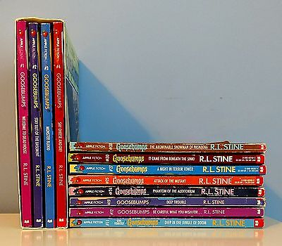 Goosebumps Lot of 12 by R.L.Stine / 1 Box Set + 8 Others
