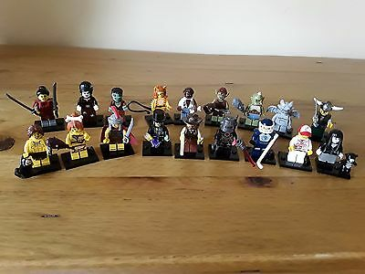 18 Various Lego Minifigures With Accessories & Stands. Some Rare. All Different
