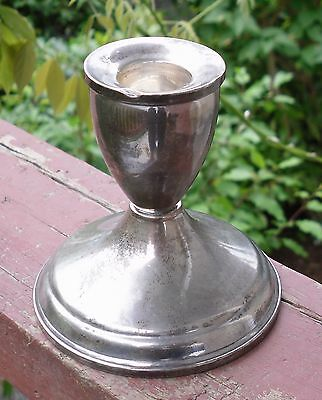 Sterling Weighted Silver Candlestick Candle Holder 7.55 oz 214 grams Scrap Use