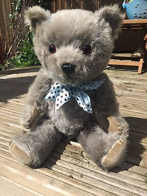 Flo - Beautiful Rare BLUE Chiltern Musical Mohair Teddy Bear Antique Old English