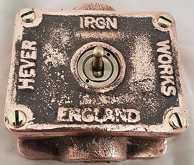 NEW Vintage Industrial Copper 1 Gang Retrofit Light Switch - BS EN Approved