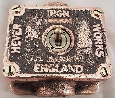 Solid copper vintage industrial switch BSEN approved easy  RETROFIT to box