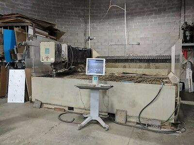 Used Flow IFB waterjet w/ Model 50I-S intensifier pump