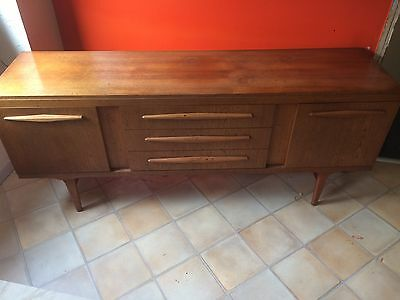 1970s vintage teak furniture side draw and table