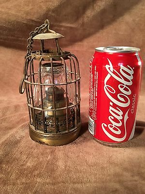 Rare Hanging Cage Oil Lamp Brass or Bronze Chinese Light China Opium War Era #A
