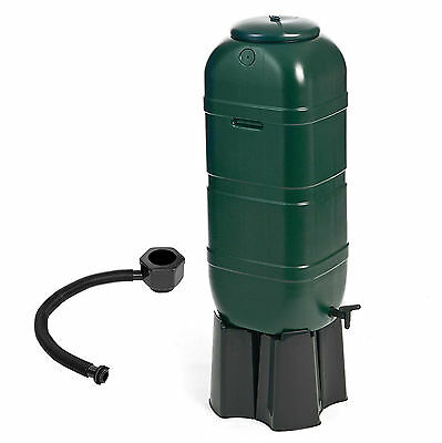 100L Garden Water Butt Set including Tap & Stand & Connection Filler Kit GN339