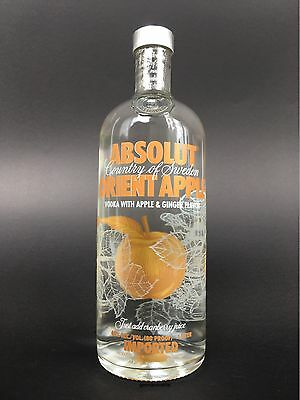 Absolut Vodka Orient Appel manzana pomme full & sealed bottle botella bouteille