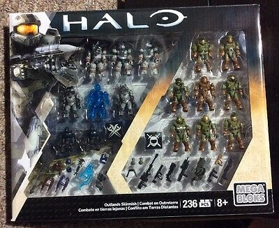 Halo Mega Bloks Outlands Skirmish Battle Pack -16 Figures -Interchangable Armor