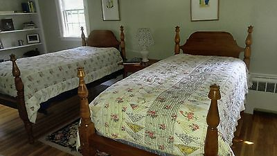 Pair of Maple twin beds from Leonards of Seekonk