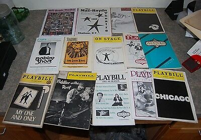 Vintage Lot of 14 Misc Years Playbills Broadway & Various Theatres (F2)