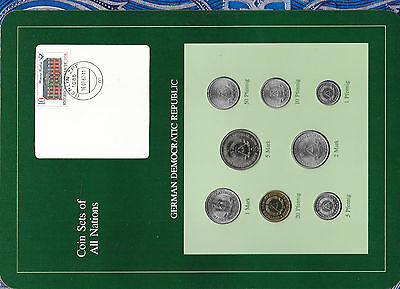 Coin sets of all nations East Germany UNC All 1979 but 1, 20 Pfennig 1981