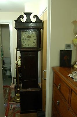 Oak 30 Hour Long Case Clock the Square Painted Dail Pos` 1850`s