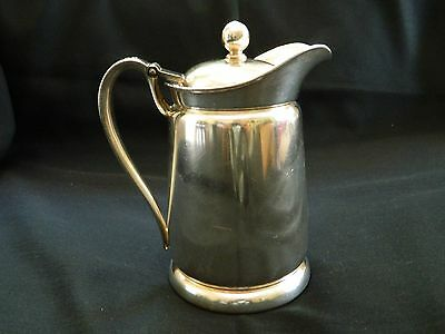 Vintage Silver Soldered Caribe Hilton Puerto Rico Hot Water or Coffee Pot 1957