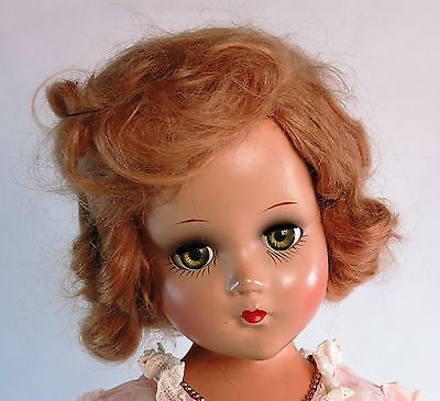 """Cute Vintage Arranbee R&B Nancy Lee Jointed Composition Doll Pink Dress 18 """""""
