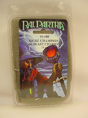 Ral Partha Ogre Champion On Beast Chariot 10-380 Sealed Pack
