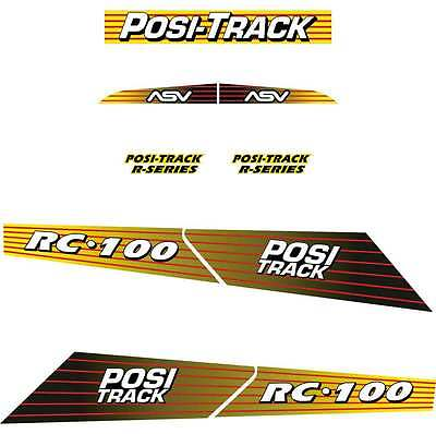 ASV RC100 Decals Stickers Repro Kit