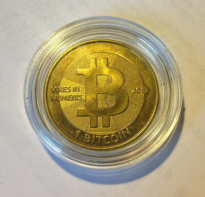 2013 Casascius Brass 1 Btc Loaded Full Funded 1Btc Coldstorage Bitcoin