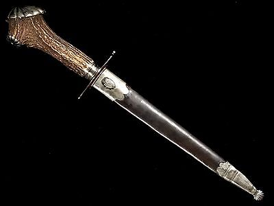 Very Nice Large French Hunting Dagger 19Th Century