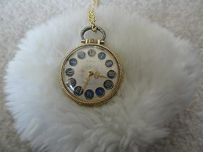 Pretty Swiss Made Endura Wind Up Necklace Pendant Watch