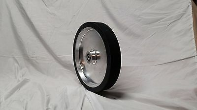 "10"" smooth Contact wheel for 2x72 belt grinder sander, Dynamically balanced"