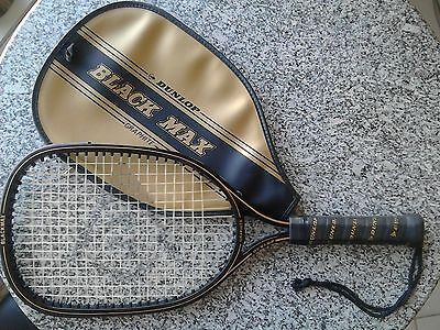 DUNLOP BLACK MAX Graphite Racquet Ball Racket with Dunlop Black Max Cover