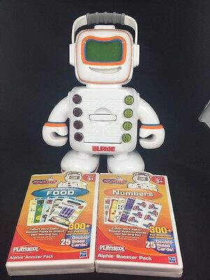 Playskool Alphie Educational Learning Robot w/ 2 New Booster Packs - Teach Baby