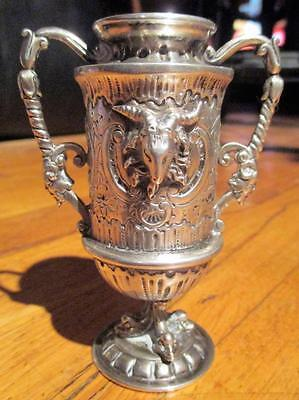 19th Century Coin Silver-Ornate & Baroque Goblet-Chalice-Ritual-Vestment Cup