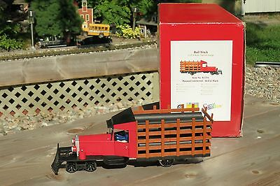 G Scale Rail Truck Spectrum Bachmann  Red/ Black Locomotive  with pipe load