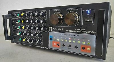 Karaoke Martin Roland MA-3000K Professional Mixing Amplifier *Works* WATCH VIDEO