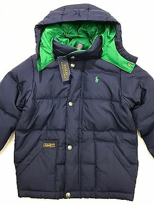 Ralph Lauren Polo Navy Puffer Coat Down Feather Jacket Size 4 $165 NEW