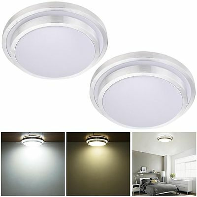 2PCS LED Pendant Ceiling Light Flush Mount Lamp Chandelier AmbientLight Aluminum