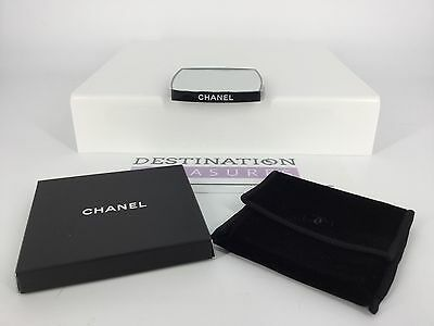 Chanel VIP Mirror Double Sided Magnifier for Purse Bag Velvet Pouch