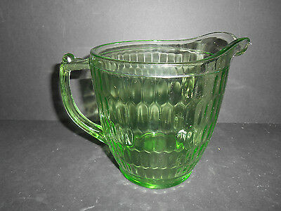Nice Green 24 oz. Honeycomb Optic Pitcher by Jeanette Glass