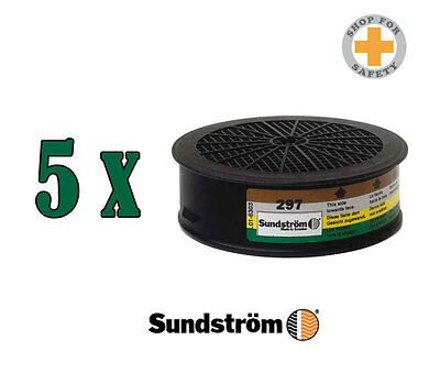 Sundstrom Filter SR297 ABEK1 GAS  * 5 units *