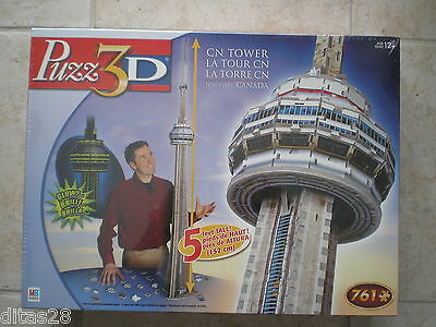WREBBIT CN Tower puzz3D glow in the dark 3D puzzle, factory sealed box