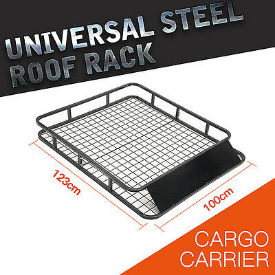 *QLD PICKUP* 1.23M Universal 4WD Roof Rack/ Car Top Basket Luggage Carrier