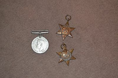 WW2 defence, 1939-1945 and African star medals