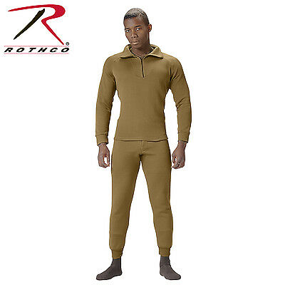 Rothco ECWCS Poly Zip Collar Shirt & Pant - Men's Extreme Cold Weather Underwear