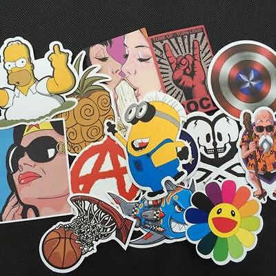 50pcs Car Sticker Random Bomb Decal Skate Skateboard Laptop Luggage Vinyl Decal