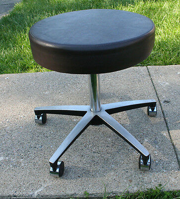 Vintage Operators Stool Midmark Medical Products Adjustable Rolling Chair Doctor