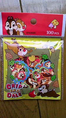 DISNEY Chip and Dale Sticker FLAKES 100 PCS