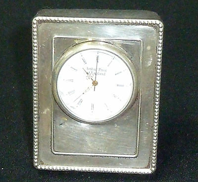 Vintage Solid Silver Fronted Miniature Clock 70mm x 50mm