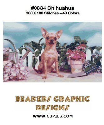 CHIHUAHUA Counted Cross Stitch detailed #0884