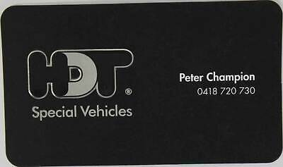 Peter Champion HDT Business Card Genuine Memorabilia