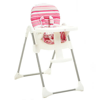 Babylo Nibble Highchair in Pink, Adjustable Baby High Feeding Chair
