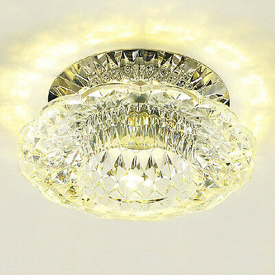 3W LED Spotlights Crystal Ceiling Lamp Aisle Light Fixture For Bedroom Light CA