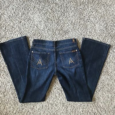 7 For all Mankind A Pocket Kids/Girls/Youth Size 14 Boot Cut Jeans EUC