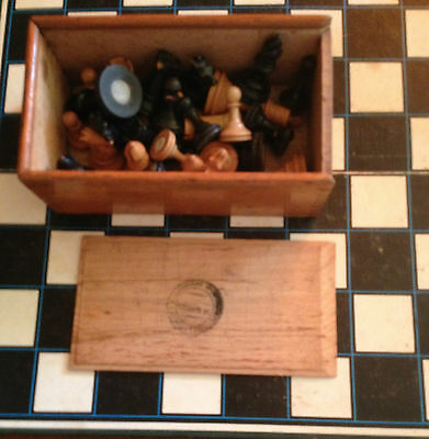 Vintage Antique Wood Weighted Staunton Chess Set Sold By Melbourne Sports Depot