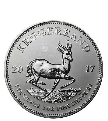 2017 South Africa Krugerrand 1 oz Silver Coin Uncirculated with Certificate